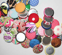 Wholesale Fabric Covered Sewing Buttons with Flat back in assorted colors mm in a set