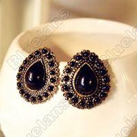 gemstone earrings - Retro Vintage Drops Gemstone Stud Earrings Elegant Earring E3143