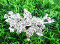 Wholesale Noble Womens Brooches Pins Diamond Brooch Pin Jewelry Silver Brooches Flower Brooch Pins For Gift