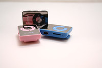 Wholesale 2pcs promotion mirror clip mp3 Mini clip mp3 player C shape support to GB TF card