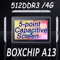 Wholesale free gift inch android MB GB Capacitive Screen Camera WIFI A13 tablet pc