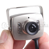 Wholesale 6 IR LED Waterproof CCD Color Video Security Camera Monitor Night Vision Audio mini size damp proof