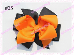 free shipping 65pcs 4.5'' fashion newest big layered hair bows popular girl baby hair bow clips