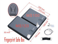 Wholesale Gary Vault MS series Portable Biometric Fingerprint secure store metal Car Mini Safe box safe Case