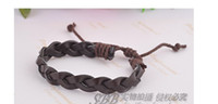 Wholesale Hand Catenary lovers jewelry punk braid form knitting leather C
