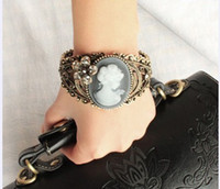 Wholesale Vintage Gorgeous Lady Girl prayer of Mary beauty Avatar Bangle Bracelet