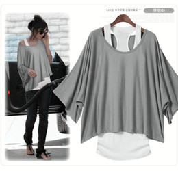 Wholesale Q012 short Sleeve loose tops Blouses T shirt Size fit