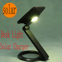 Wholesale 1W Solar Desk Light Mobile Phone Charger Solar Charger Solar Lighting Portable Outdoor Lamp