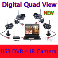 Bullet 4  Digital 2.4Ghz Wireless 4 Night Vision waterproof Camera Security CCTV System DVR Kit