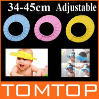 Shower Caps Children's Day  Fashion Shampoo Shield Hat Baby Child Kid Shampoo Bath Shower Wash Hair Shield Hat Cap 3 Color H4955