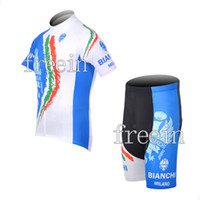 Wholesale 2012 BIANCHI BLACK WITH BLUE Bicycle clothing bicycle jersey mountain bike shorts team clothing