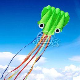 Free Shipping!!550cm single Line Stunt Green Octopus POWER Sport kite