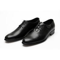 Men Black Oxfords Men's Black Dress Shoes 2012 summer Fashion Italian
