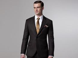 New Arrival Men Suit Slim Fit Custom Made Suit Men Suit Sale Business Suit Brown Accept