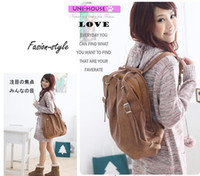 Wholesale Girls Student Cheap School Bag Designer Three Way Function Bag Leather Handbag Hobos Backpacks