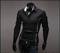 white dress shirt for men - NEW Men s Long Sleeve Shirts Cotton Lapel Mens Shirt Slim Dress Shirts For Men Busi ness Shirts black dfsfddd