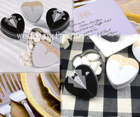FREE SHIPPING+ 50pcs lot, Bride and Groom Favor Tins, heart de...