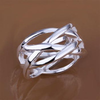 Wholesale factory price Sterling Silver fashion jewelry Fish mesh ring best sell Christmas gifts