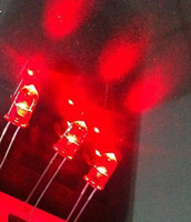 Wholesale drop shipping mm red diffused clear led lamps