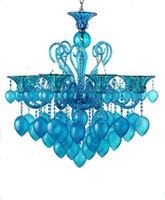 Wholesale Bella Vetro Light quot Aqua Blown Glass Chianti Chandelier Blue