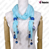 Wholesale Newest Style Young Girl Vogue Scarf with Ornaments