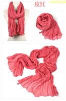 Wholesale Solid color Scarf Colorful silk Scarf LanCai Cashmere Imitation Lady Pieces LANCAId5