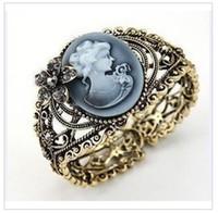 Wholesale Wide Bracelet Luxury fashion carved jade restore ancient ways c