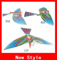 Wholesale Birds Flapping Wing Aircraft For The Assembled Model Toy Children Toys Flying Kite Paper Airplane