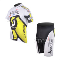 Wholesale 2012 Hot New High Quality Scoott Cycling Jersey Short Set Bicycle Wear Bike Jackets Cycle Clothes