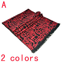 Wholesale scarves for men ancien letters printed colors mixed color avaiable NL