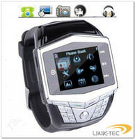 Wholesale New Unlocked GD910 Waterproof inch screen Quad Band watch mobile phone Camera Bluetooth MP3 MP4