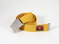 Wholesale HOT CANVAS WEB BELTS Fingerxx Belt Candy COLOR Canvas Military Web Style Belt Waist Unisex Belts