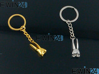 new EB1024 Gift Gold Plated Silver Plated Dental Molar Keychain Key Ring Zinc alloy Key Chain For Dentist Team Christmas Gift New 200pcs Free shipping