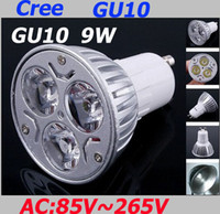 Wholesale DHL shipping CREE w led x3 W GU10 dimmable V LED Lights Energy saving Light