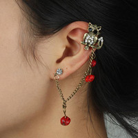 Wholesale Owl Ear Cuff Chain Earrings Girls Resin Jewelry