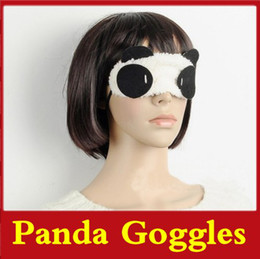 Wholesale 40pcs Panda Goggles Sleep Masks Plush Eyes Mask Vision Care Protective Shield Improve Blindfold