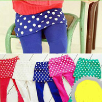 Wholesale New leggings children Autumn pants Culottes kids pants girls Rubber band belt underpants