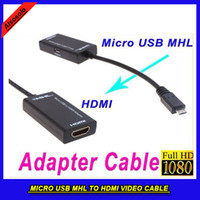 Wholesale 15CM P HDMI Cable Micro USB MHL to HDMI Video Cable Adapter for Samsung HTC LG