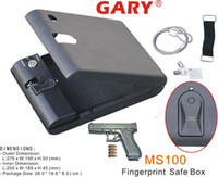 Wholesale Gary Vault MS100 V Portable Fingerprint Biometric Mini Car Gun metal Safe box for one year warranty