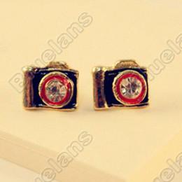 Wholesale Vintage Diamante Antique Camera Earring Fashion Earrings E0056
