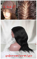 Wholesale Silk Top Full lace Wigs Natural Straight B Small Cap Size X4 Silk Base