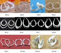 Wholesale Earrings Women s earrings silver plated hoop earrings pair Mix order