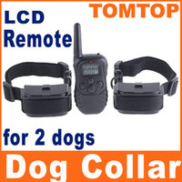Wholesale 300M Two dog Training Shock Collars with Levels and LCD DISPLAY Remote Control for Dog H4384