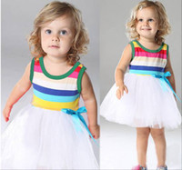 Wholesale Summer Girl Baby Dress Fashion Stripe Vest Kids Dress Brand Children s Clothing Girl Baby s Apparel