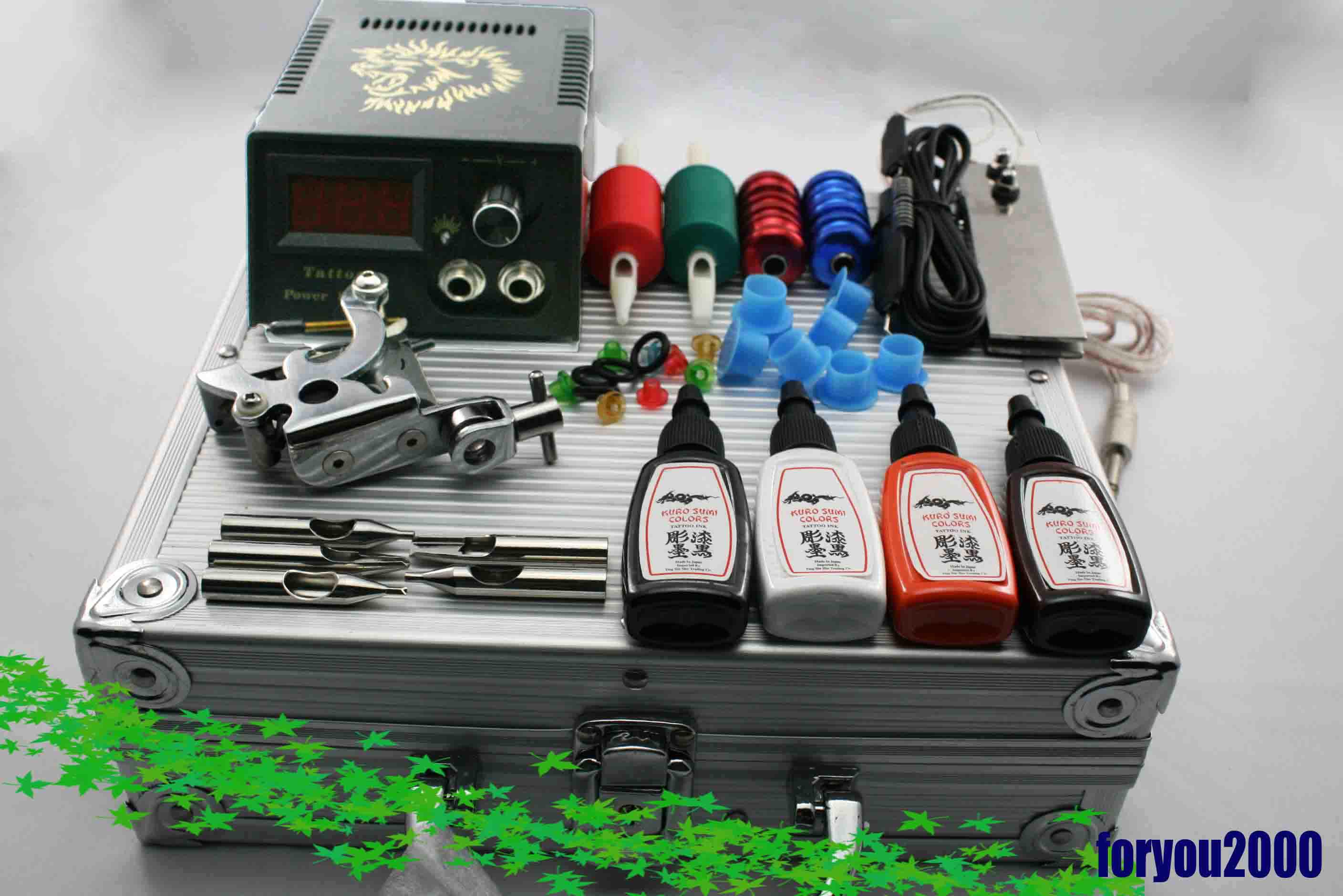 Best quality one machine tattoo kit digital power supply for Supplies for tattooing