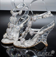 Other Other Beaded Women's Dazzing High Heels Beading Peep Toe Evening Prom Party Dresses Lady Bridal Wedding Shoes