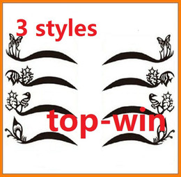 Wholesale temporary sticker tattoo Eye Shadow Eyeliner sticker Eye Liner Stickers Cosmetics Makup styles