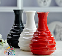 Wholesale Modern ceramic vase furnishing articles household adornment fashion simple handicraft decoration