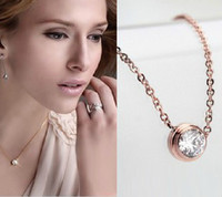 Wholesale Star Jewelry high quality titanium stainless steel zircon chain necklace choker k gold plated