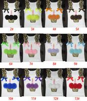 Wholesale Baby Girls Leopard Vest Cupcake Flower T shirt Girl Casual Cotton Vest Tops Children Waistcoat